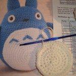 Mon 1er Amigurumi : un « Blue Totoro » pour Monsieur #2